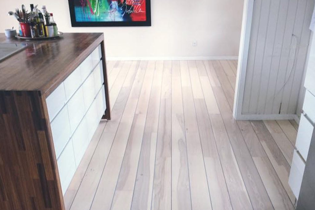 Køkkengulv efter miljøvenlig gulvservice