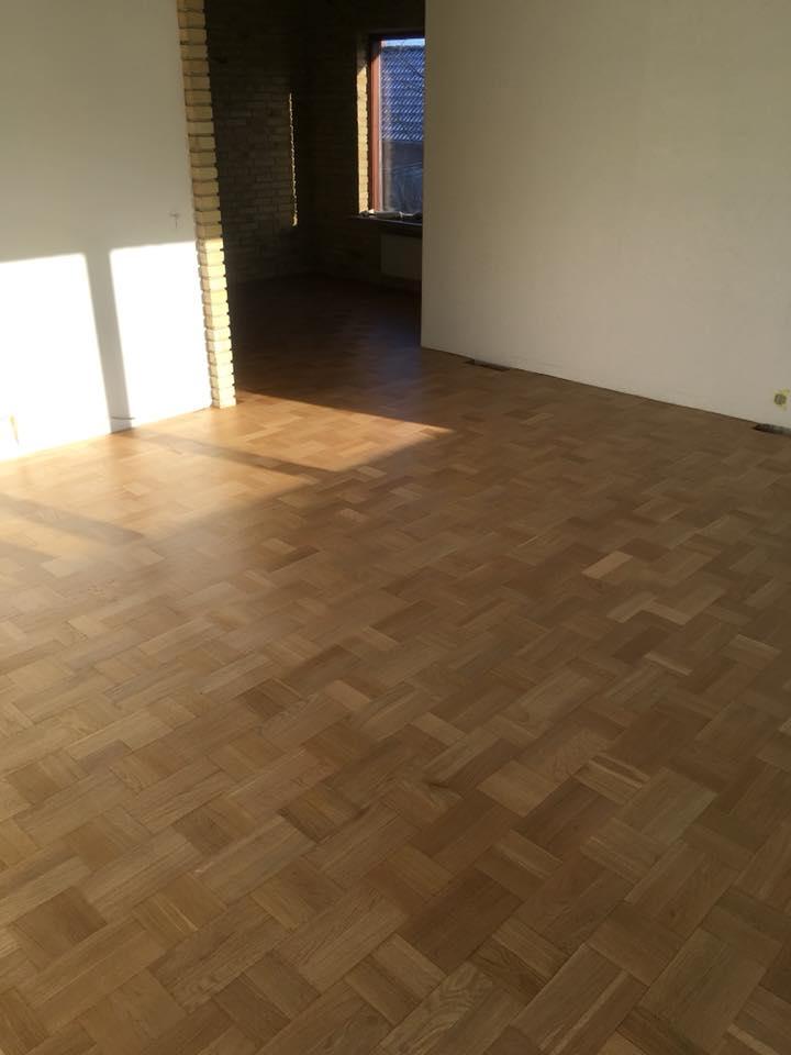 nyslebet gulv udført af Solrød Gulvservice, professionel gulvafslibning